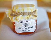 Personalized Honey Labels - Love is Sweet - Curvy Shape / DIGITAL FILE