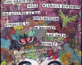 And She Goes.. 12x12 Art Print