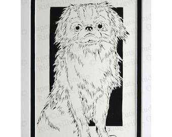 Japanese Chin Papercutting- Handcut Original