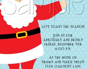 25 5x7 Holiday Christmas Cocktail Party Invitations