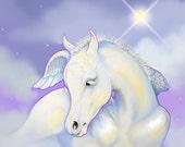 Pegasus Horse ACEO Baby Foal Fantasy Fine Art Print