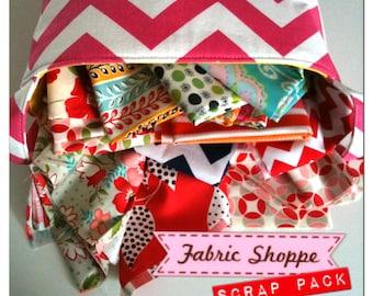 SALE Scrap Fabric, Pack of Scrap Fabrics, Designer Fabric, Fabric Shoppe fabrics. Best Seller! You Choose the amount. Free Shipping Availa