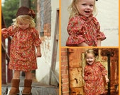 Puff Ruffle Peasant Top/Dress Sewing Pattern Tutorial Ebook nb - 12 girls 3 sleeve lengths PDF Whimsy Couture