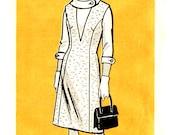 Marian Martin 9278 Deep V Jumper / Blouse Pattern - Rolled Collar - Vintage 1970s - Half Size 20.5