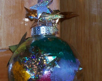 """a """"stained glass"""" ornament"""