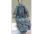 Cat Me Blue Handmade Cottage & Shabby Chic Doll Decoration