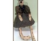 Christine Bear Handmade  Country Doll Decoration