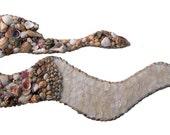 Seashell Mermaid Large Mermaid Wall Hanging Covered in Sea Shells BEAUTIFUL OOAK  Number 3