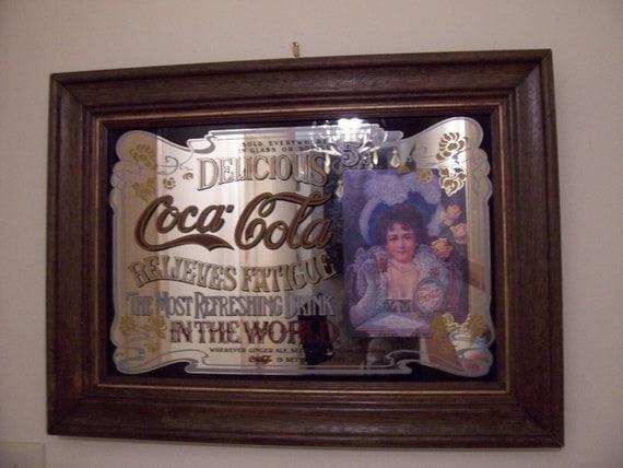 Sale Sale 1950s Vintage Coca Cola Mirror By Everlastingvintage
