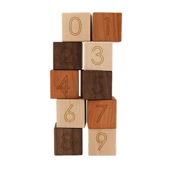 number blocks 0 9 counting kids wooden toy by. Black Bedroom Furniture Sets. Home Design Ideas