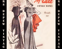 Vintage Sewing Pattern Catalog Booklet McCall Style News November 1941 PDF -INSTANT DOWNLOAD-