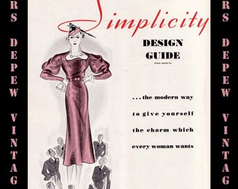 Vintage Sewing Book 1930s Simplicity Design Guide Style Pattern Alteration Guide PDF -INSTANT DOWNLOAD-