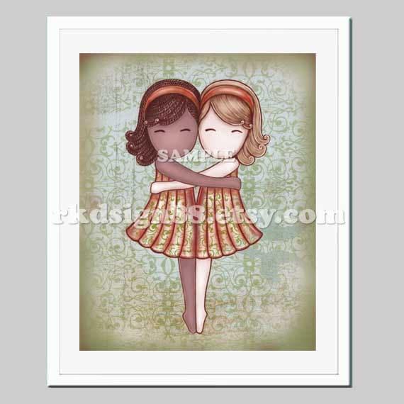 Children S Party Box Wall Art For Girl S Bedroom: Adoption Gift Nursery Art Kids Art Girls Room Art Baby Girl