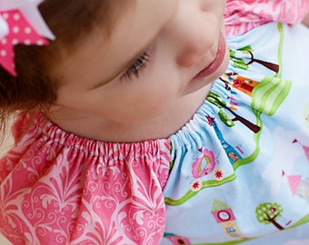 Size 18 month Peasant Dress Happy Ever After  Ready To Ship Handcrafted by Valeriya