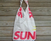 Parachute Bag : Upcycled Sunriser Logo Panels