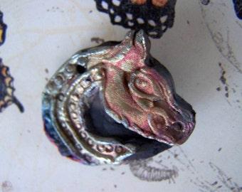 71. Wondrousstrange Raku Celtic Horse Raku Pendant