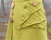 Bamboo french terry wrap skirt