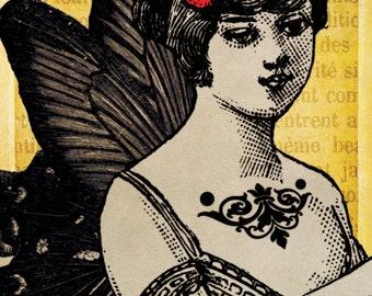 Printable Art ARABELLA 4x6in Digital Collage - no. 0182