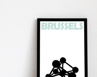 Brussels Print // Bruxelles Art Print Belgium