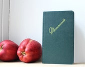 Vintage Memoranda Book - Leather over Hardback