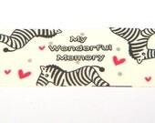 Zebra Tape - Kawaii Deco, Transparent Decorative