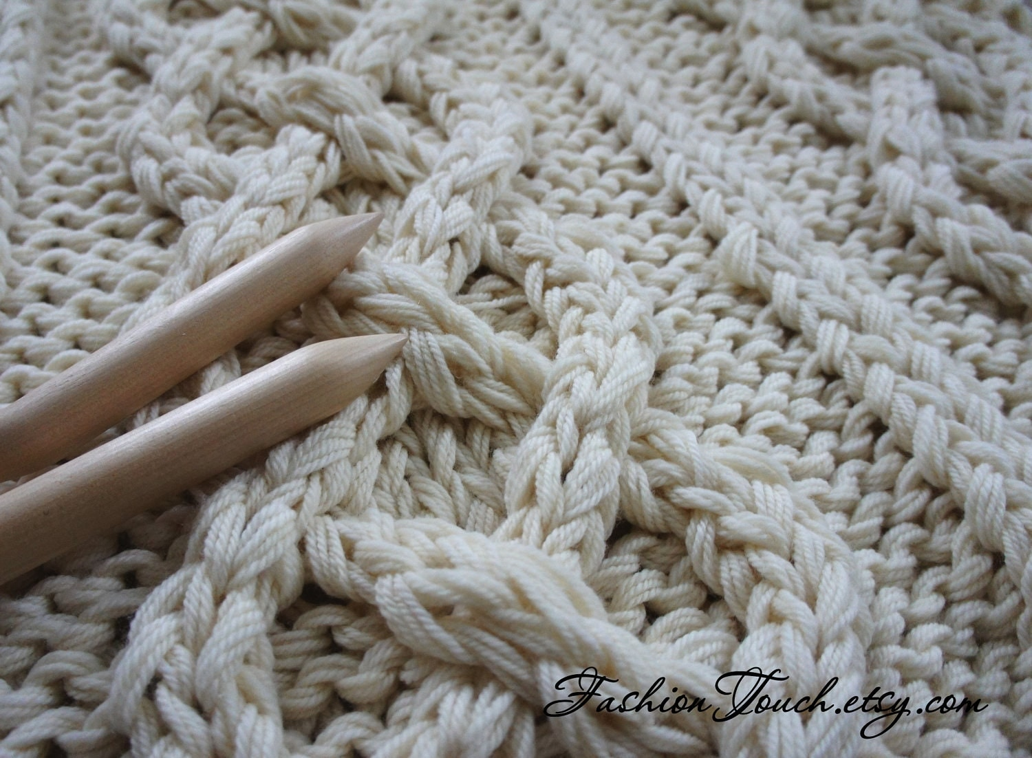 Cable Knit Throw Pattern : Knit Blanket Cable Knit Blanket Knit Throw Knit Blanket
