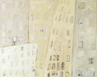 On the street -The original oil painting on canvas panel, New York City Art -Manhattan, Cityscape,Street Art