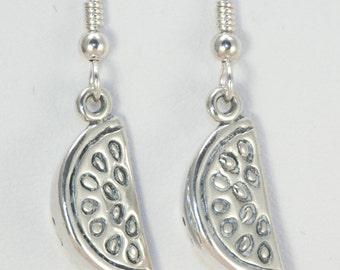 Sterling Watermelon Earrings