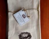 Bird's Nest Flour Sack Towel