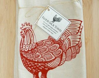 Rooster Flour Sack Towel