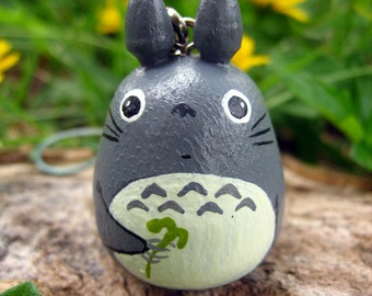 TOTORO Doll Phone strap key chain rings Studio Ghibli toy Gray (Size S) 2