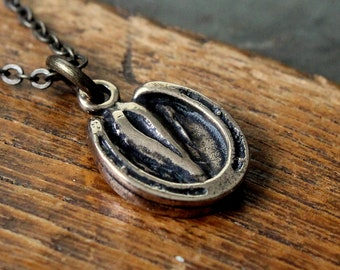 Horse Hoof Necklace Solid Bronze Horse Hoof Pendant Necklace Horse Jewelry 166
