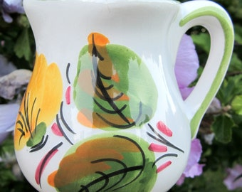 Spain Hand Painted Floral Pitcher Creamer PINTADO A MANO
