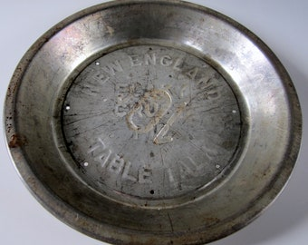 New England Table Talk Flaky Crust Pie Tin Vintage Collectible 10 Cents