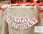 RED FIRETRUCK Printable Party Banner - Boy or Girl