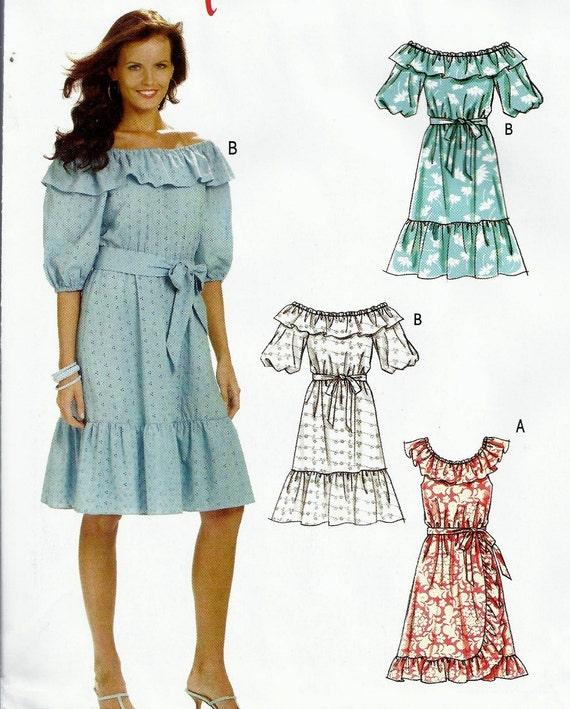 Save - Womens Peasant Dress - 18W Thru 24W - McCalls 6010 - Uncut & OOP - Coupon Savings Available