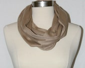 Beige jersey loop - infinity scarf