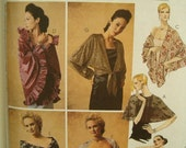 Cape Pattern Wraps Stole, Capelet, Shawl, Shrug, Scarf One Size O/S Uncut Evening Elegance McCalls 3880