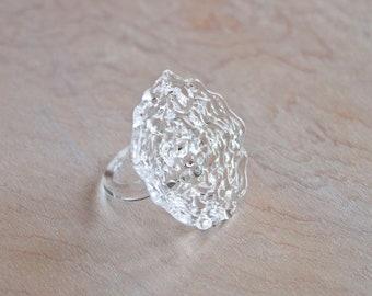 Glass Flower Ring