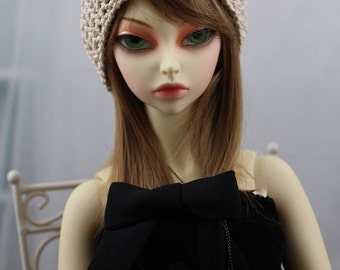 Tan Crochet Hat for SD BJD, 1/3 Doll, Luts