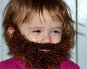 Newborn Beard, Baby Beard, Knitted Baby Beard Only, Kids Beard, Baby Face Warmer - All Sizes