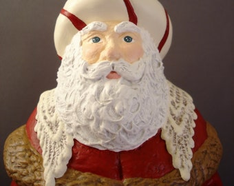 Victorian Lace Saint Nicholas Ceramic Figurine
