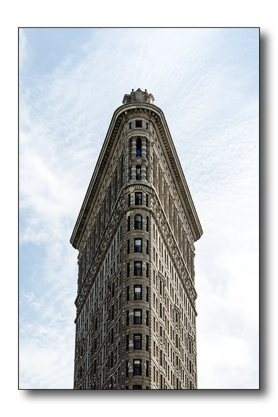 Flatiron Building Fine Art Photography - Majestic, Triangle, Old, Detailed, New York City, Building, Old NYC Skyscraper