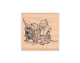 MOUSE - MOLE - TOAD   - wood mounted rubber stamp -(mcrs  21-10)