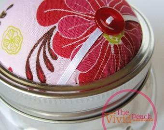 Feeling Pink. Pincushion/ Storage Jar.