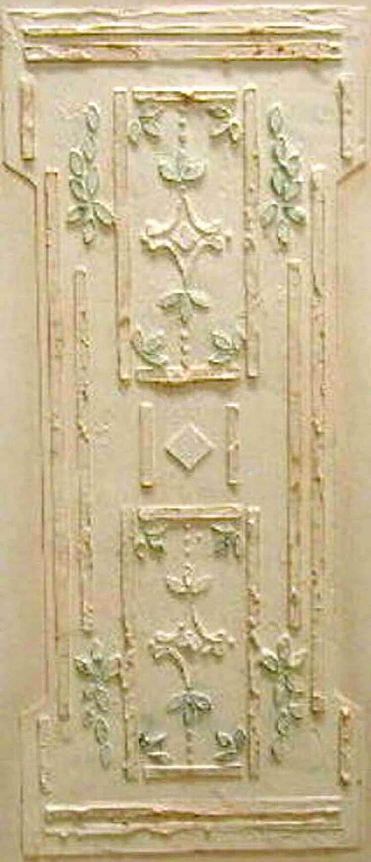 Raised Plaster Stencil Victorian Wall Panel By Elegantstencils