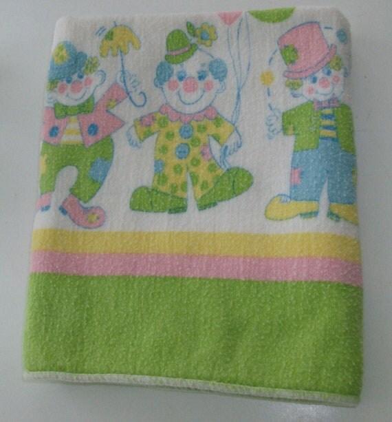 Lime Clown Receiving Baby Blanket