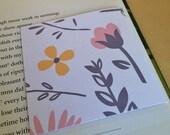 Magnetic Bookmark - flower print