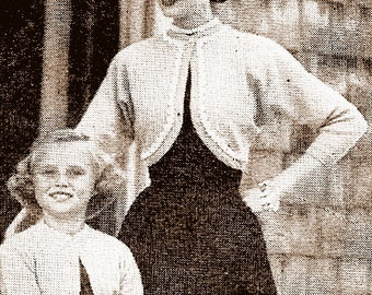 Mother Daughter Boleros Shrug Knitting Pattern 726026