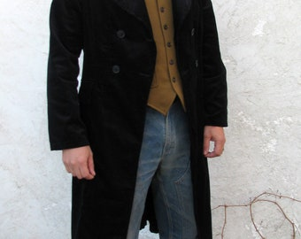 Black Corduroy Duster (Made-to-Measure)----Editions 36